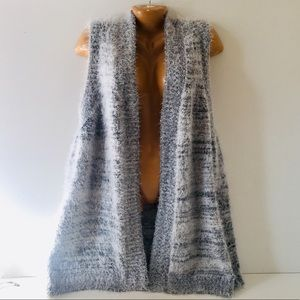NWT CJ banks Fluffy Soft Long Sparkly Vest Sweater
